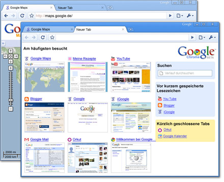 Screenshots - Google Chrome